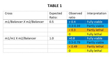 Ratio table